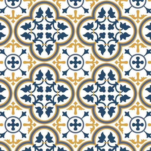 Image of Katie victorian intricate tile design - oodles of style and impact. A classy interpretation of a distinctive design. Make a real impression with your home decor!
