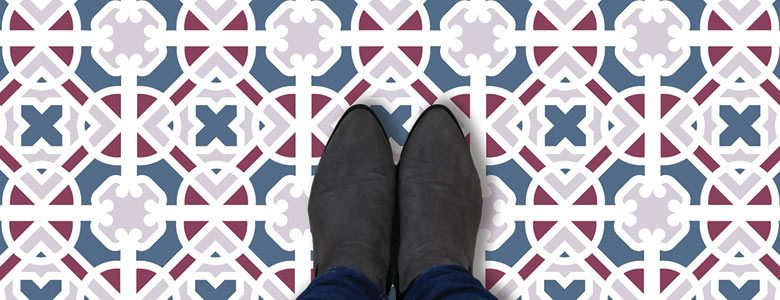 Victorian vinyl flooring - traditional pattern meets modern vinyl style exclusively from forthefloorandmore.com