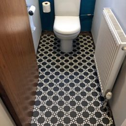 Image of Antlia printed vinyl flooring - a customer photo from Adele used in the Loved By You page of forthefloorandmore.com