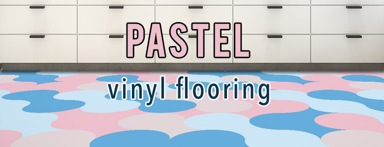 Pastel coloured vinyl flooring available exclusively from forthefloorandmore.com