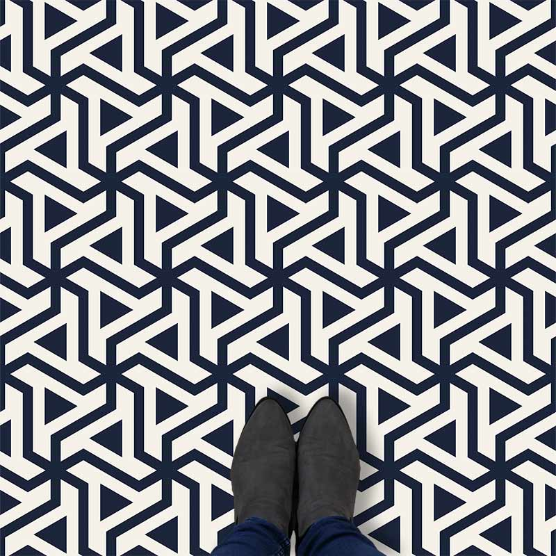 Image of Prestwich geometric flooring exlusively from forthefloorandmore.com