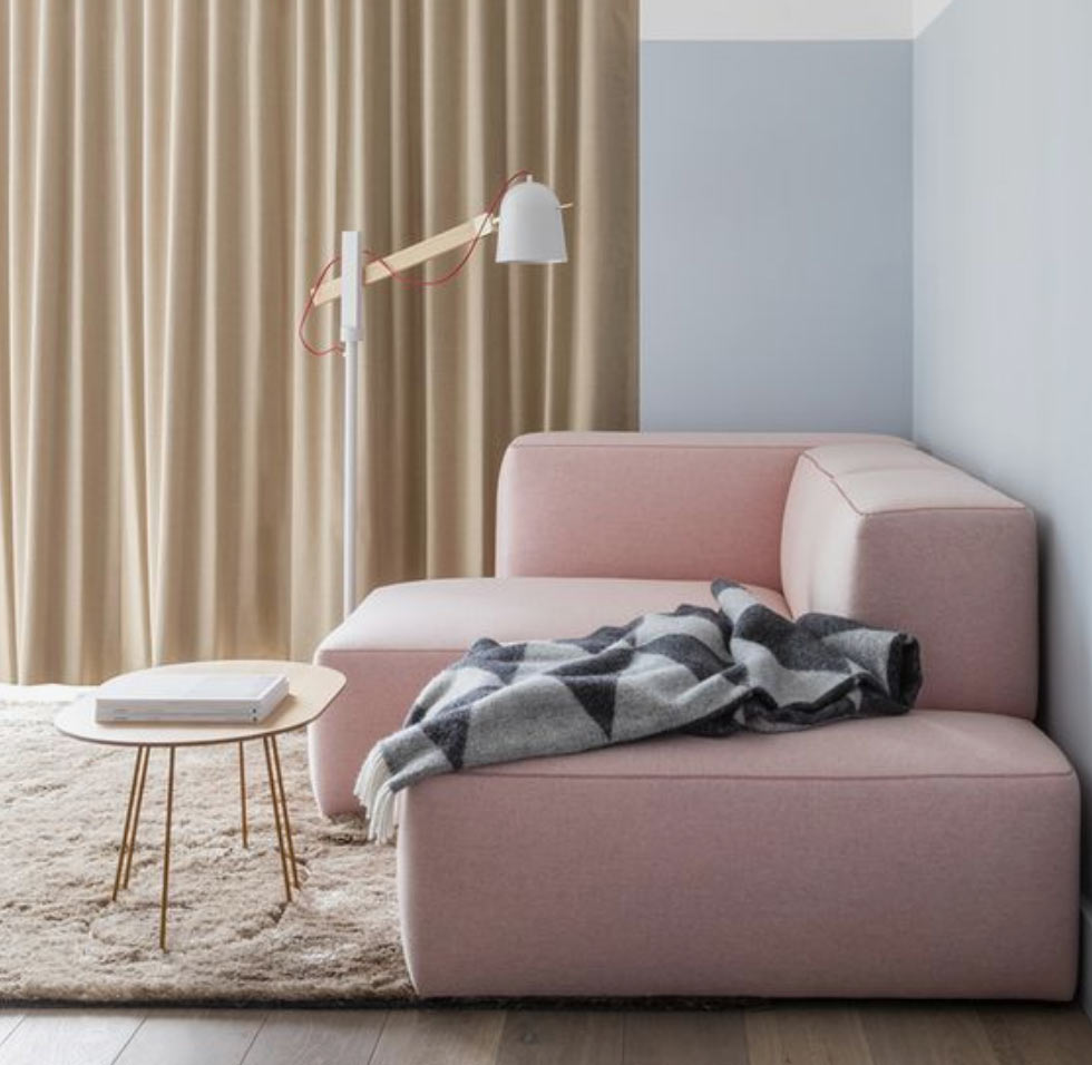 Image of a pastel coloured room used in a blog post about pastel flooring by forthefloorandmore.com