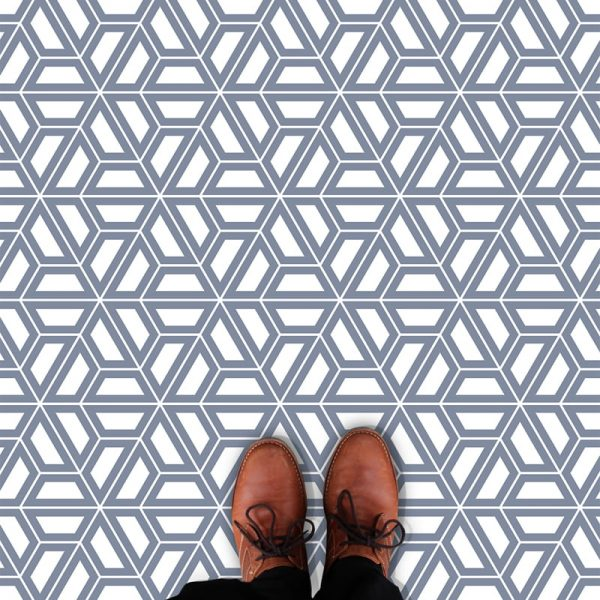 Image of Pimlico geometric flooring exlusively from forthefloorandmore.com