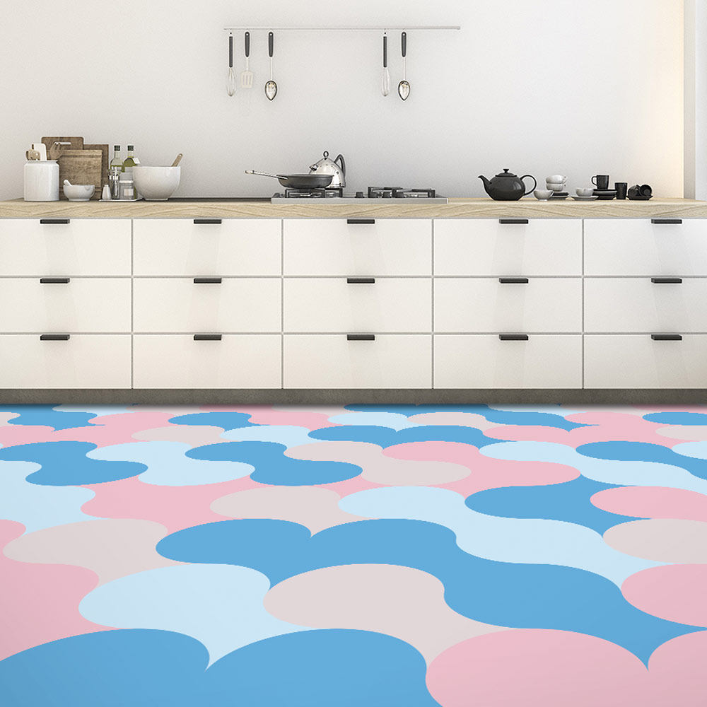 Image of Poppet pastel flooring used in a bog post about candy colour home decor colours by forthefloorandmore.com