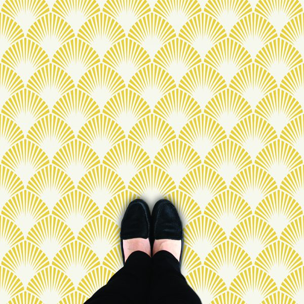 Image of Pryma pattern art deco style flooring exlusively from forthefloorandmore.com