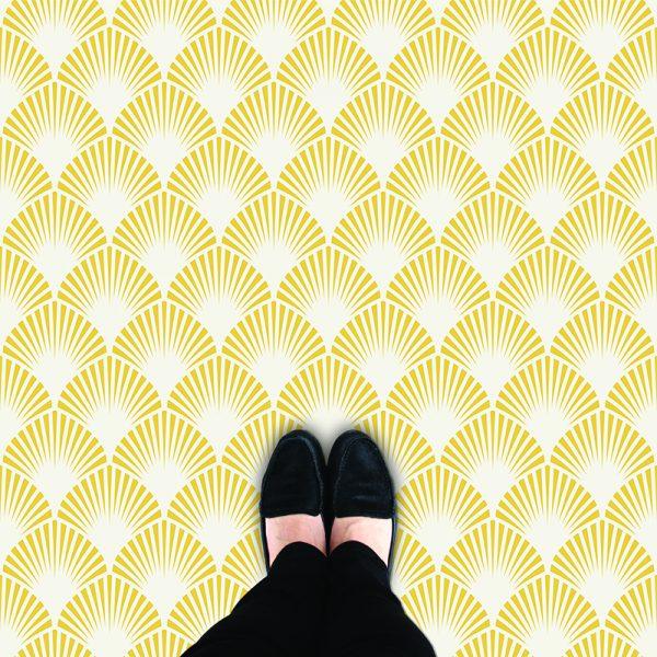 Image of Pryma pattern art deco style flooring exlusively from forthefloorandmore.com