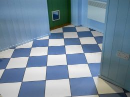 Image of our bespoke Chess coloured flooring customer photo used in the testimonial page Loved By You at forthefloorandmore.com
