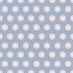 Image of Hampstead pattern printed geometric flooring exlusively from forthefloorandmore.com