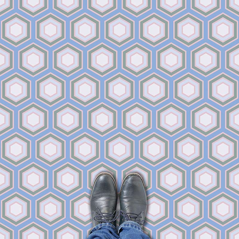 Image of Hampstead print geometric flooring exlusively from forthefloorandmore.com