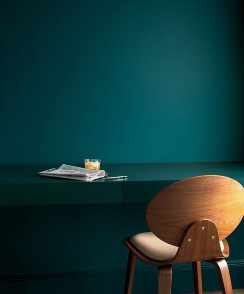 Image of the 2019 colour Beau Green by Benjamin Moore used in a colour guide SS19 blog post by For the Floor & More