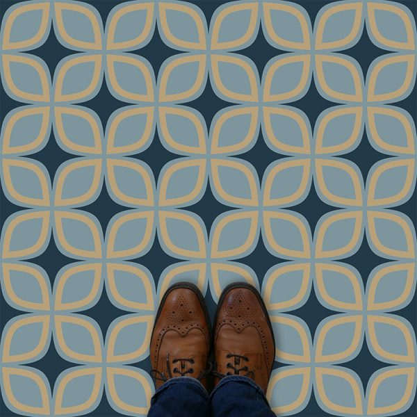 Image of Portland geometric flooring exlusively from forthefloorandmore.com