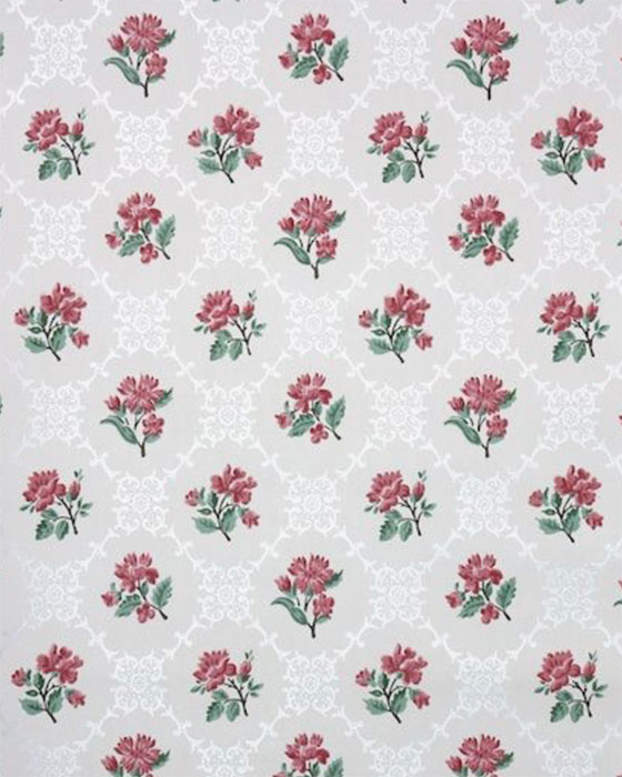 Image of 1950s floral wallpaper used in a blogpost about floral flooring by forthefloorandmore.com
