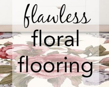 Featured image for the blog post Flawless Floral Flooring from forthefloorandmore.com