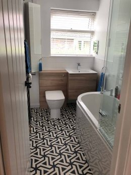 Customer image of Prestwich patterned vinyl flooring from a customer review of forthefloorandmore.com