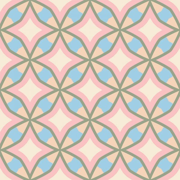 Image of Calleja cuban inspired pattern printed geometric design exclusively from forthefloorandmore.com