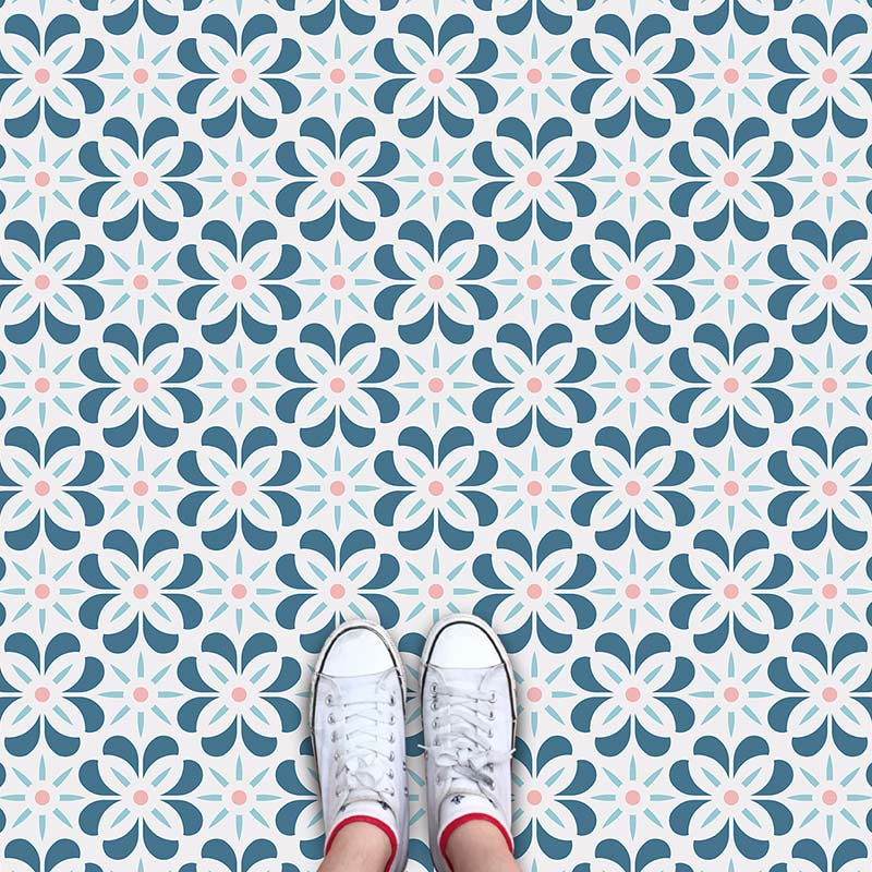 Carmel cuban inspired pattern printed geometric flooring exclusively from forthefloorandmore.com