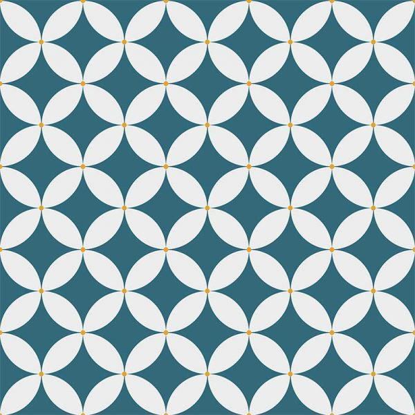 Image of Linn pattern printed geometric design exclusively from forthefloorandmore.com
