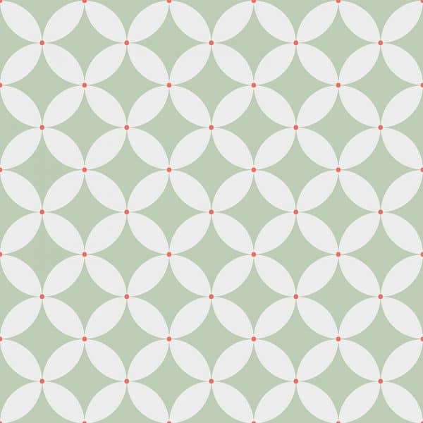 Image of Meja pattern printed geometric flooring exclusively from forthefloorandmore.com