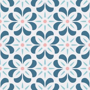 Carmel cuban inspired pattern printed geometric design exclusively from forthefloorandmore.com
