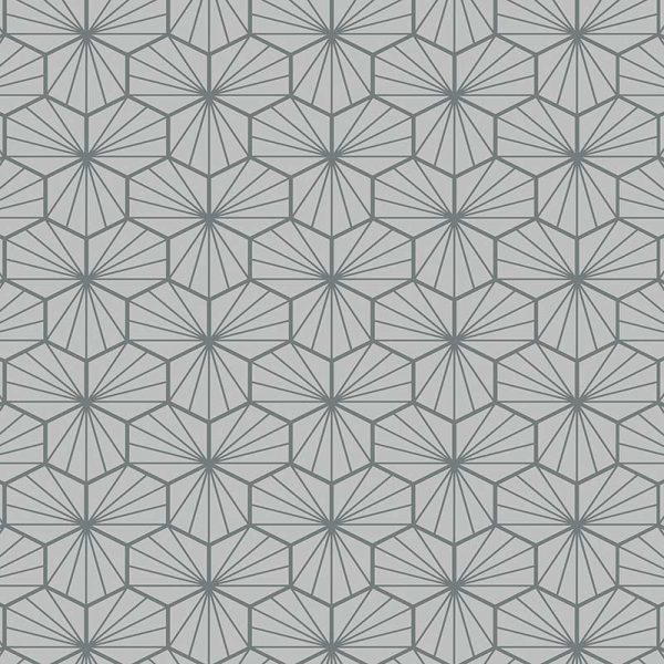 Image of Jovian Grey pattern printed geometric flooring exclusively from forthefloorandmore.com