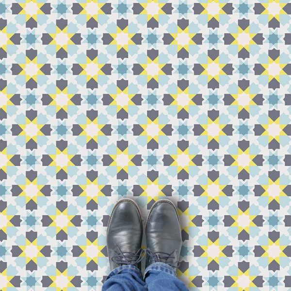 Callie pattern printed geometric flooring exclusively from forthefloorandmore.com