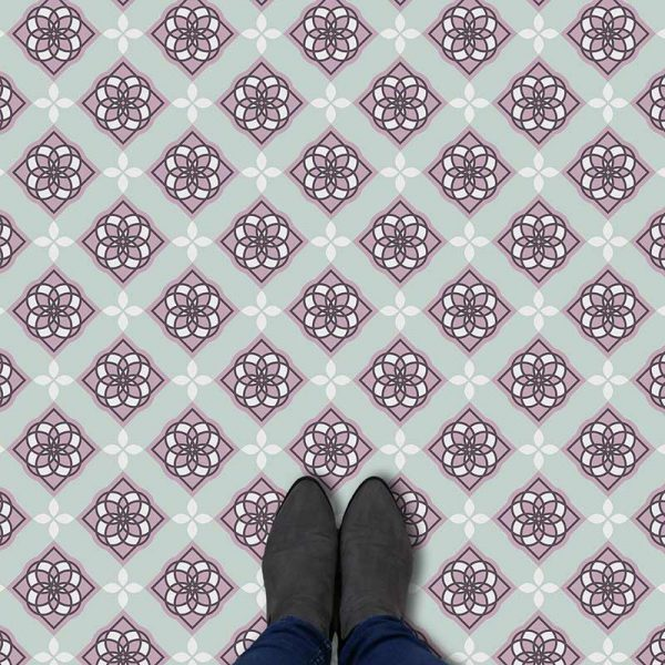 Lona pattern printed geometric flooring exclusively from forthefloorandmore.com