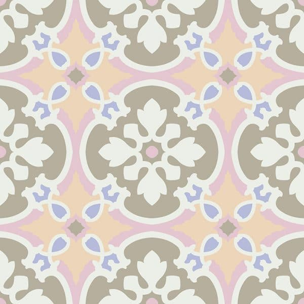 Image of Eula pattern printed geometric design exclusively from forthefloorandmore.com