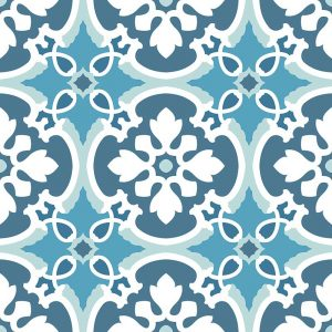 Verna pattern printed geometric design exclusively from forthefloorandmore.com