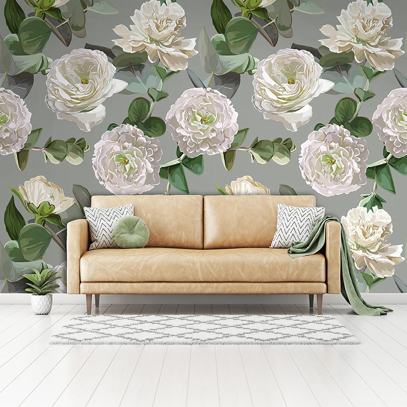 Karina large floral wallpaper exclusively from forthefloorandmore.com