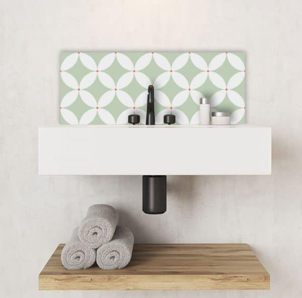 Image of Meja cuban inspired pattern printed geometric design Feature Tile exclusively from forthefloorandmore.com