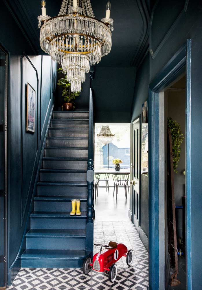 Victorian hallway colours and textures : an image used in a blog post about Victorian styles in the modern home by forthefloorandmore.com