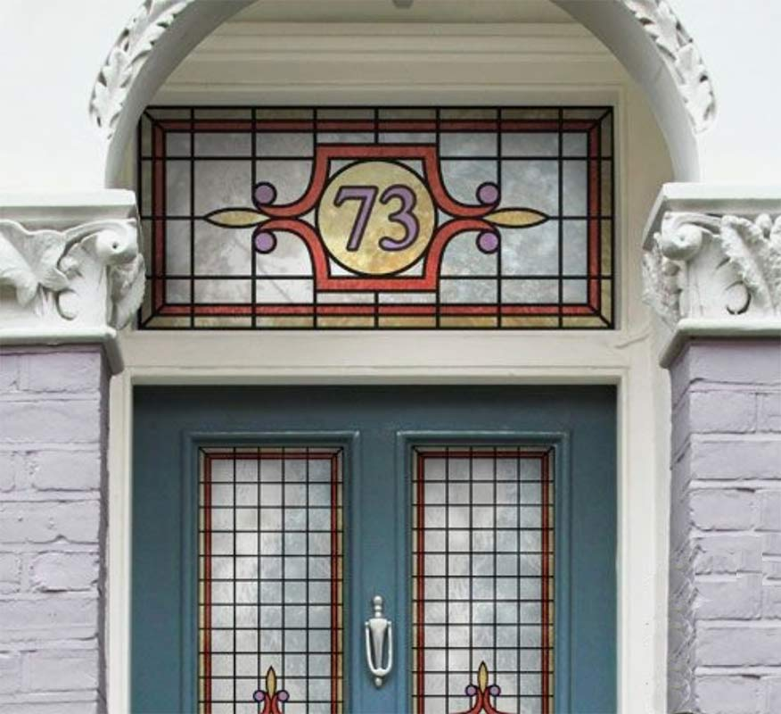 Image showing a Victorian style stained glass window used in a blog post by forthefloorandmore.com