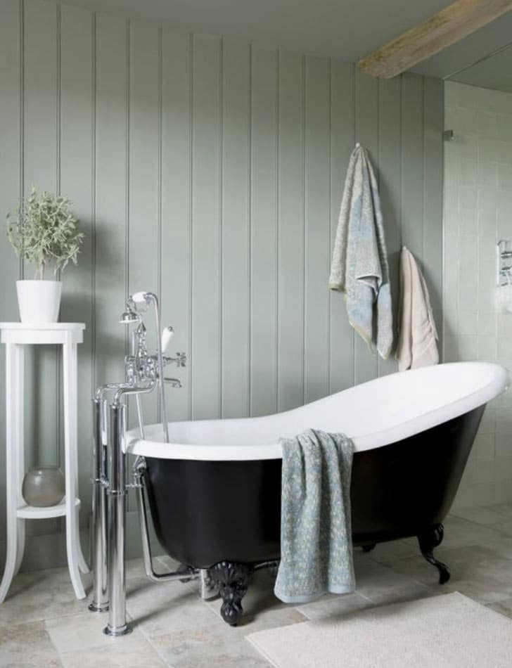 Victorian style bathroom paneling : an image used in a blog post about Victorian styles in the modern home by forthefloorandmore.com