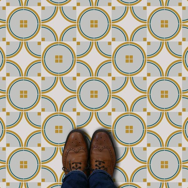 Cosima pattern printed geometric design flooring exclusively from forthefloorandmore.com