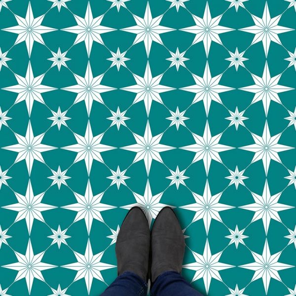 Elettra pattern printed geometric design flooring exclusively from forthefloorandmore.com
