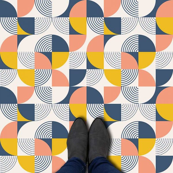 Elodie pattern printed geometric design flooring exclusively from forthefloorandmore.com