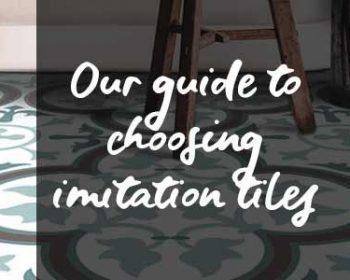 Imitation tile flooring from forthefloorandmore.com