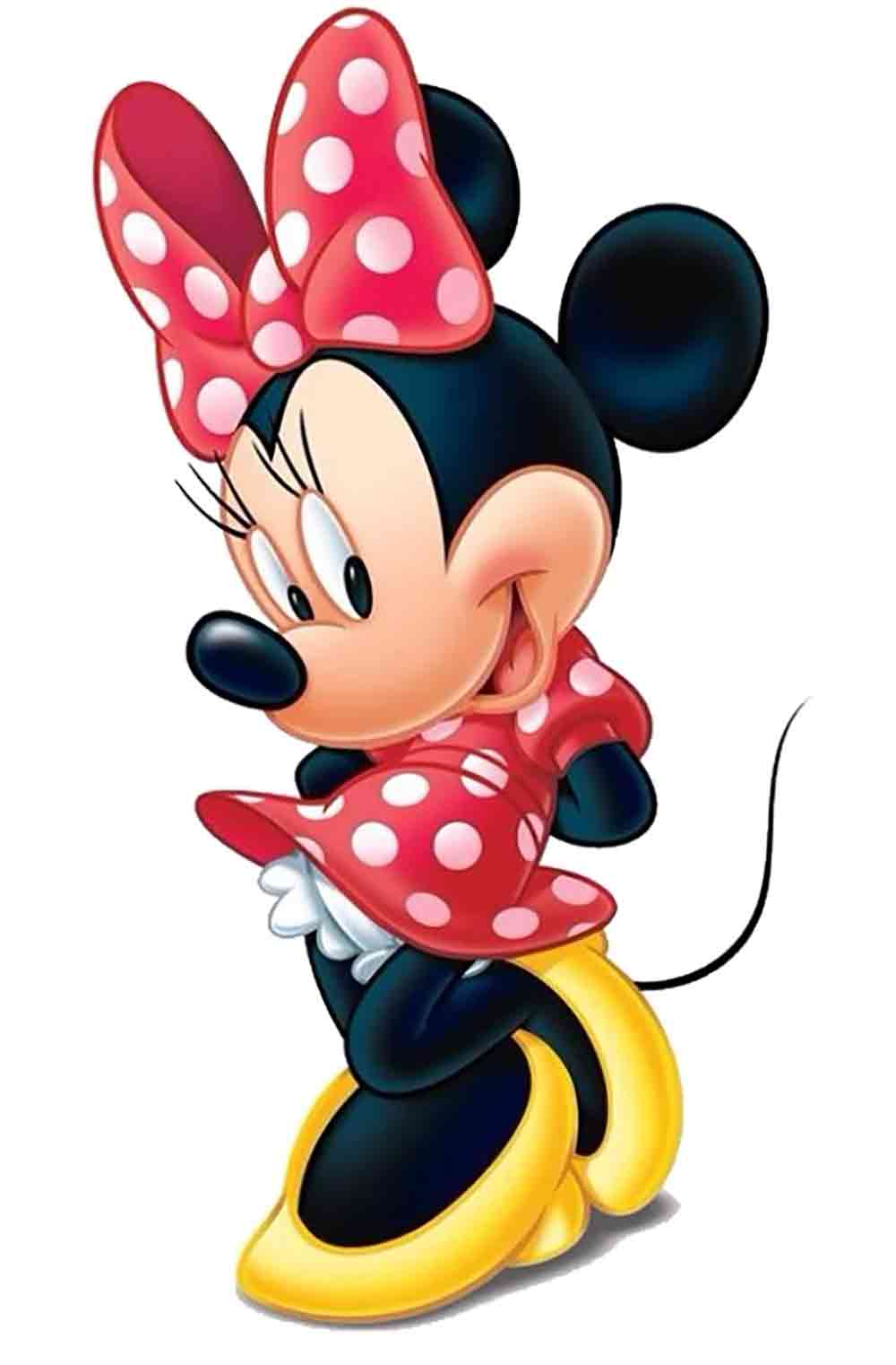 Image of Minnie Mouse in her iconic Polka Dot bow and dress used in a blog post about Polka Dot flooring by forthefloorandmore.com