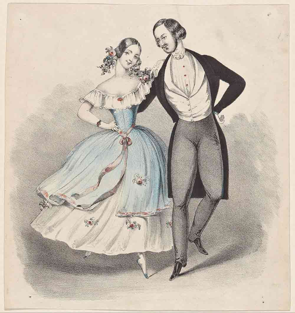 Image of a Polka dancing pair from Wikipedia and used in a blog post about Polka Dot flooring by forthefloorandmore.com