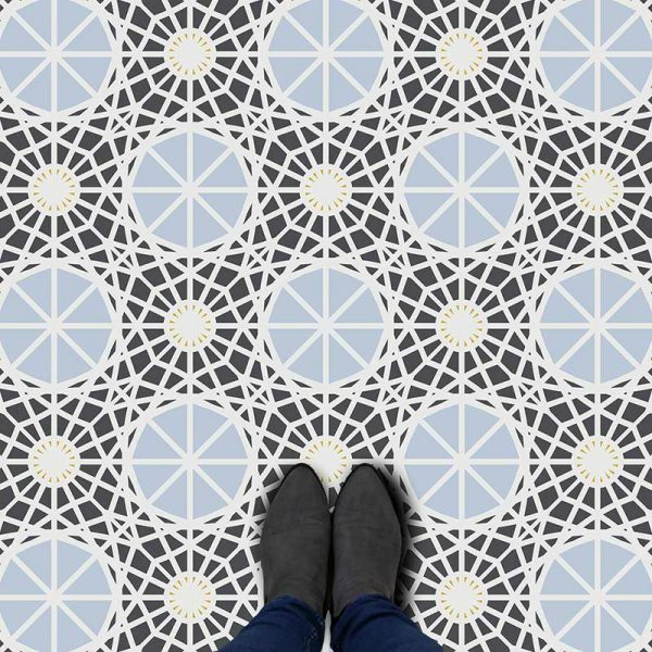 Kempton pattern printed geometric design vinyl flooring exclusively from forthefloorandmore.com