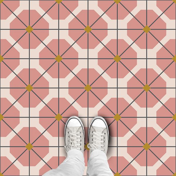 Pema pattern printed geometric design vinyl flooring exclusively from forthefloorandmore.com