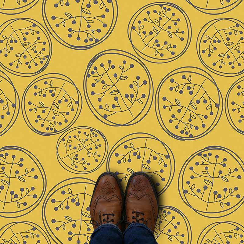 Rosen pattern printed floral design vinyl flooring exclusively from forthefloorandmore.com