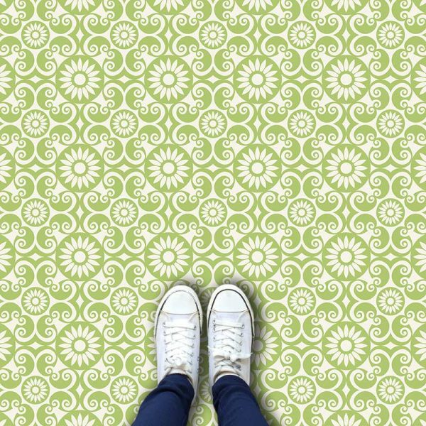 Asami pattern printed geometric design exclusively from forthefloorandmore.com