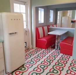 Customer photo of a custom Anata pattern flooring from forthefloorandmore.com