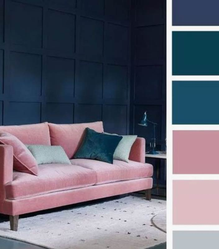 Image showing tonal colour schemed living room used in a blog post about honey coloured home decor for 2020 by forthefloorandmore.com