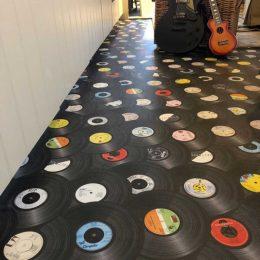 Customer photo of a custom pattern flooring from forthefloorandmore.com