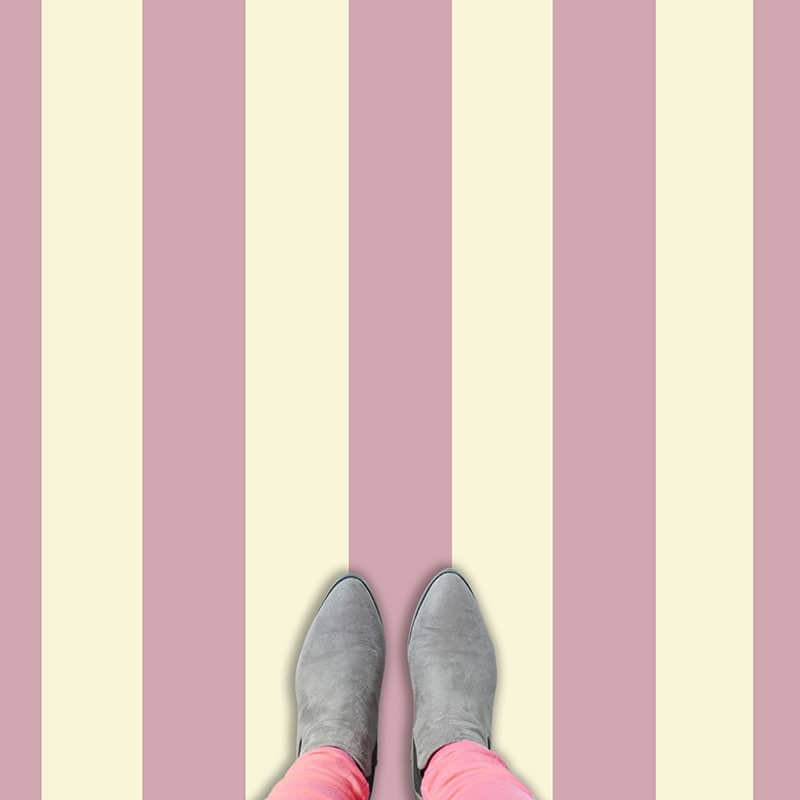 Candy and cream striped vinyl flooring from forthefloorandmore.com