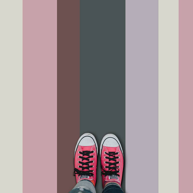 Cool pastels striped vinyl flooring from forthefloorandmore.com