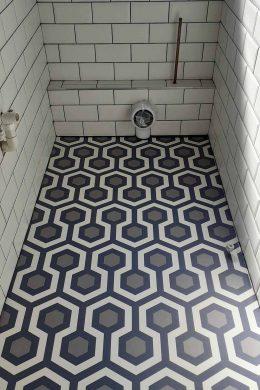 Customer photo of custom Anser pattern flooring from forthefloorandmore.com
