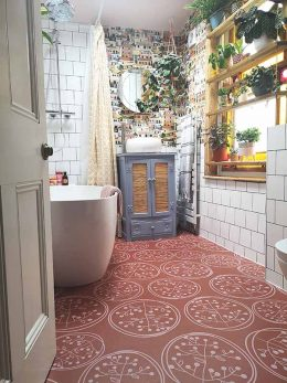 Customer photo of Sanne pattern flooring from forthefloorandmore.com